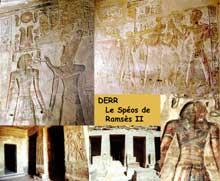 Derr: le spéos de Ramsès II. (Site Egypte antique)