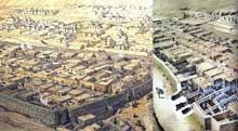 Deir el-Médineh: le village des ouvriers-artisans de la vallée des rois. Reconstitution. (Site Egypte antique)
