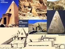 Deir el-Médineh: la nécropole. Vues et plans. (Site Egypte antique)