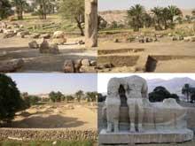 Kôm el-Heitan: vestiges du temple d'Aménophis III ou «Aménophium». (Site Egypte antique)