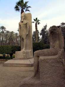 Memphis: temple de ptah: colosse de Ramsès II. XIXè dynastie. (Site Egypte antique)