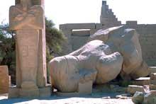 Louxor: le Ramesseum. Seconde cour. (Site Egypte antique)