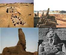 Ouadi es-Seboua: l'hémispéos de Ramsès II. XIXè dynastie. (Site Egypte antique)