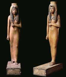 Statue d'Ahmès-Negertari, femme d'Ahmosis et mère d'AménophisI. (Histoire de l'Egypte ancienne)