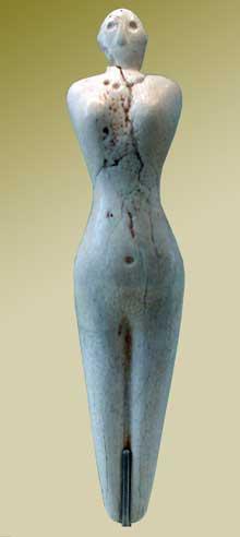 Egypte, culture de Nagada I: statuette de femme. Musée du Louvre. (Site Egypte antique)