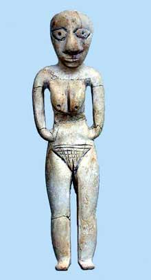 Egypte préhistorique: statuette en ivoire d'hippopotame. Culture de Badari. British Museum. (Site Egypte antique)