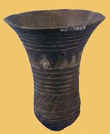 Egypte préhistorique: céramique de la nécropole de Deir Tasa en Haute Egypte. Culture de Badari. (Site Egypte antique)