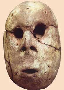 Egypte préhistorique: tête anthropomorphique. Culture de Merimde, vers 5100 avant JC. Musée du Caire. (Site Egypte antique)