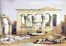 Kalabsha: le temple de Mandoulis, par D. Roberts. (Site Egypte antique)