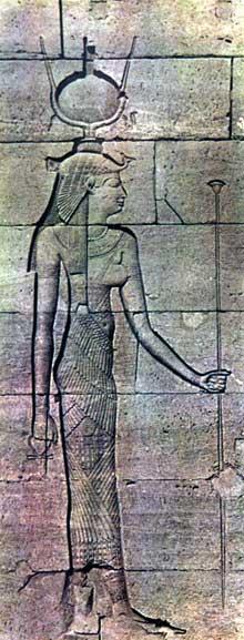 Kalabsha: le temple de Mandoulis: Isis. (Site Egypte antique)