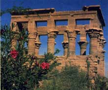 Philae: le kiosque de Trajan. (Site Egypte antique)