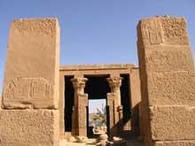 Philae: le hall de Nectanébo. (Site Egypte antique)