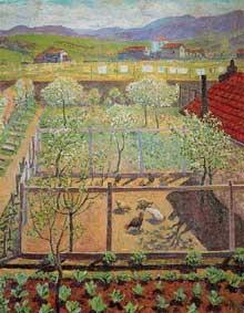 Dario de Regoyos (1857 – 1913): le poulailler. Huile sur toile, 65 x 55cm. Madrid, Musée du Prado