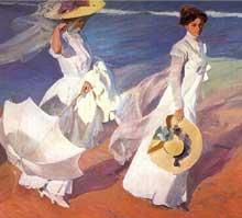 Joaqin Sorolla y Bastida (1863-1923): promenade sur la plage. Huile sur toile. Madrid, Sorolla Museum