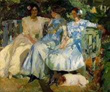 Joaqin Sorolla y Bastida (1863-1923): femme et filles de l'artiste. Huile sur toile. Madrid, Sorolla Museum