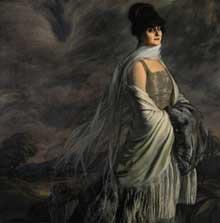 Ignacio Zuloaga (1870-1945): portrait de la senora de Atucha. 1917. 141 x 139 cm