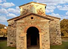San Pedro de Nora: l'église. Epoque d'AlphonseII. Façade occidentale