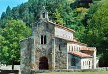 San Salvador de Valdedios: l'église. Vue générale. Vers 893