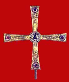 La croix des Anges. Règne d'AlphonseII. 804. Cathédrale d'Oviedo, Camara Santa