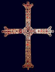 La croix de la Victoire. Règne d'Alphonse III. 908. Cathédrale d'Oviedo, Camara Santa