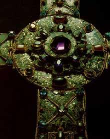 La croix de la Victoire. Règne d'AlphonseIII. 908. Détail. Cathédrale d'Oviedo, Camara Santa