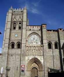 Avila, la cathédrale. Façade