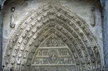 Avila, la cathédrale. Tympan du portail central