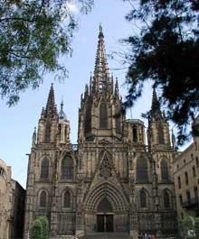 Barcelone: la cathédrale. Façade