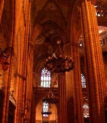 Barcelone: la cathédrale. La nef