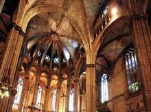 Barcelone: la cathédrale. Le choeur
