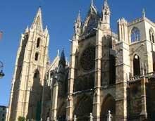 Leon: cathédrale santa Maria de Regla. La façade