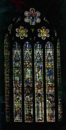 Leon: cathédrale santa Maria de Regla. Vitrail