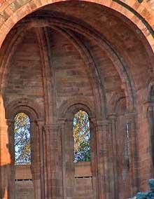 Moreruela, l'abbaye. Le chœur de l'abbatiale