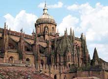 Salamanque, la cathédrale: vue générale
