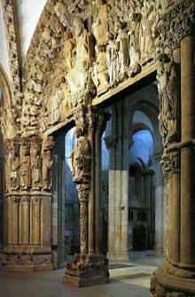 Santiago de Compostelle: le portique de la gloire