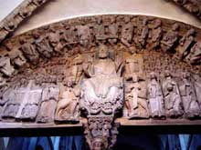 Santiago de Compostelle: le portique de la gloire. Le tympan