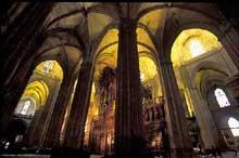 Séville: l'intérieur de la cathédrale. (Histoire de l'art - Quattrocento