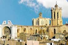 Tarragone: la cathédrale, vue générale
