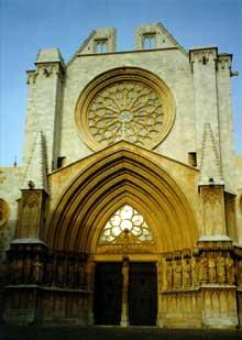Tarragone: la cathédrale, façade occidentale