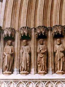 Tarragone: la cathédrale, détail de la façade
