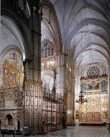 Tolède: la cathédrale. Le chœur