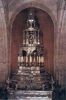 Juan de Arfe: ostensoir. 1578-1590. Argent, hauteur: 200 cm. Valladolid, musée diocésain