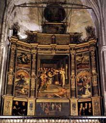 Pedro Campana: retable de la Purification. 1555. Huile sur panneau. Séville, cathédrale