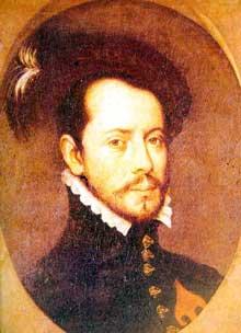 Portrait du conquistador Hernan Cortès. Espagne, peintre inconnu, XVIè