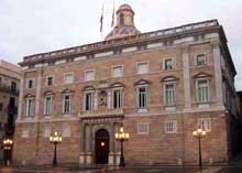 Barcelone: palais de la Generalidad. (Histoire de l'art - Quattrocento