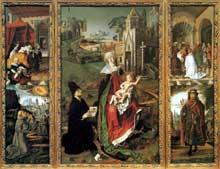Bartolomeo Bermejo: retable de la vierge de Montserrat Cathédrale d'Acqui Terme. (Histoire de l'art - Quattrocento