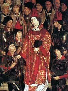 Nuno Gonçalves (actif entre 1450 et 1471): détail du polyptyque de saint Vincent. 1460. Huile sur panneau de bois. Lisbonne, musée national d'Art ancien. (Histoire de l'art - Quattrocento