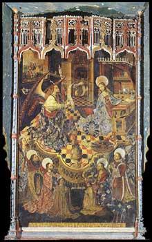 Pedro de Cordoba (actif autour de 1470): Annonciation. 1475. Tempera sur panneau de bois. Cathédrale de Cordoue. (Histoire de l'art - Quattrocento