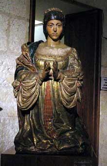 Isabelle la Catholique: statue de la «Capilla Real», la chapelle royale de la cathédrale de Grenade (1505-1512). (Histoire de l'art - Quattrocento