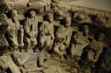 Saint Jacques de Compostelle: portique de la gloire, détail des voussures